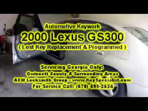 2000 Lexus GS300 - Lost Key Replacement Made & Programmed! Locksmith in Duluth, GA