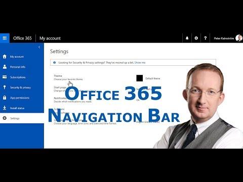 The Office 365 Navigation Bar