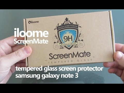 Iloome Screen Mate 9H Tempered Glass Screen Protector Galaxy Note 3
