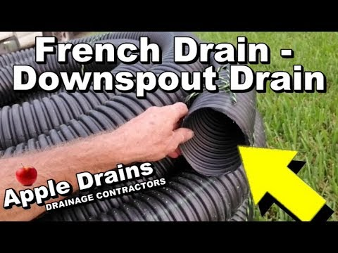French Drain, Install Downspout Drain with Sump Pump attached, DIY