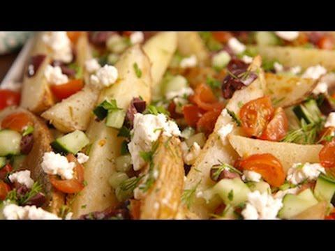 Greek Potato Wedges | Delish