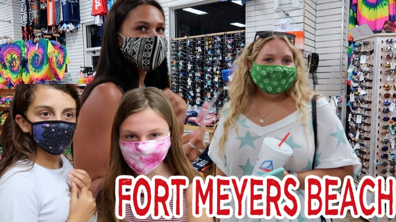BEACH DAY SHOPPING NIGHT FORT MEYERS BEACH VACATION VLOG! EMMA AND ELLIE