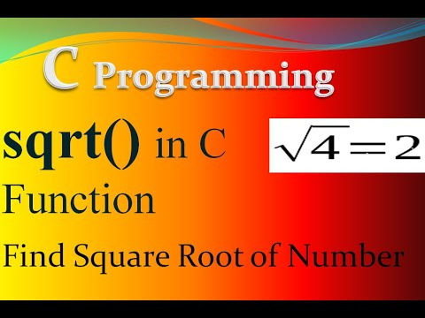 find square root of a number in c programming- sqrt() Function