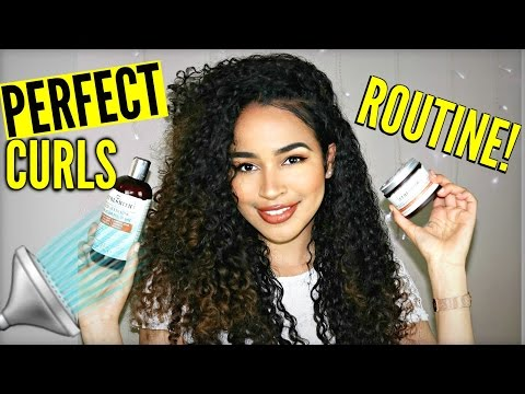 Mixed Girl Big Curly Hair Wash Routine Ft. Curlsmith!