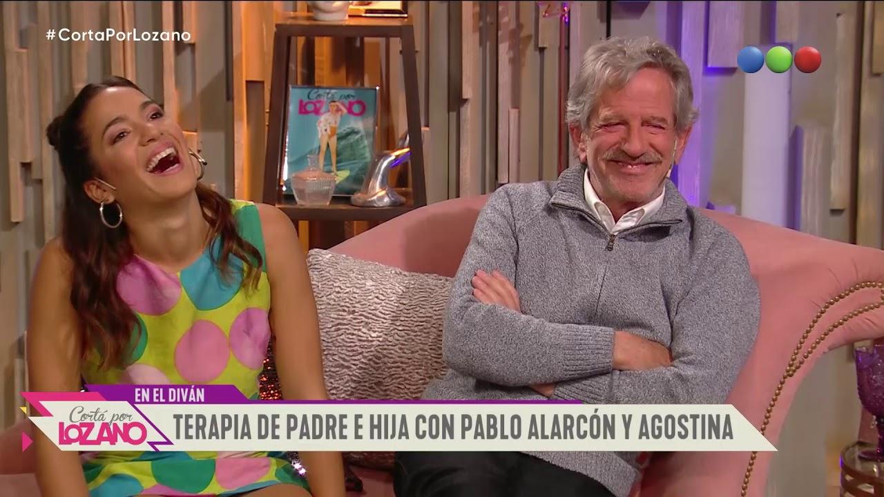 Pablo Alarcón y su hija Agostina en el diván de Vero - Cortá por Lozano 2019