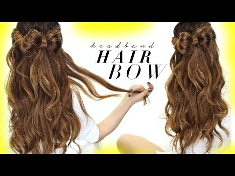 ★ HAIR BOW Half-Updo Hairstyle | HAIRSTYLES For SCHOOL Wedding