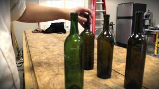 In this Pin Test, we write on wine bottles with hot glue.  Afterwards we paint it, and see how the Pin stands up to our tests!  The results were cool on this one!