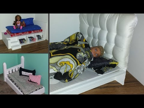 10 DIY Doll House Beds - Triple Bunk Bed, etc