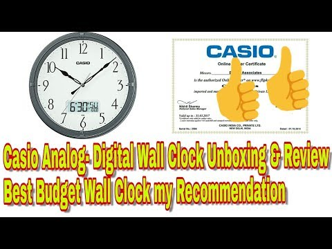 Casio Analog- Digital Wall Clock Unboxing & Review || Best Budget Wall Clock my Recommendation