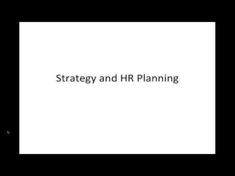 Seminar in HRM:  Strategic HR Planning