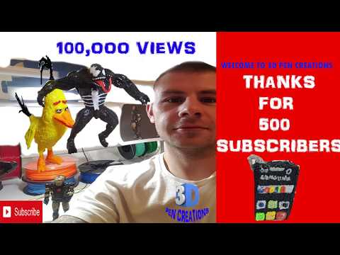 3D Pen | VLOG 1  | 500 subs| 100000 views | 3D Printing Pen Creations
