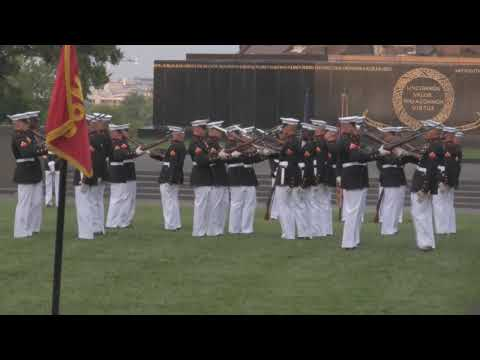 Marine Corps Silent Drill Platoon, Sunset Parade - Part 1