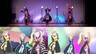 """Sanki Tousen!"" anime comparison | 「サンキトウセン!」振付VTRとアニメ比較"