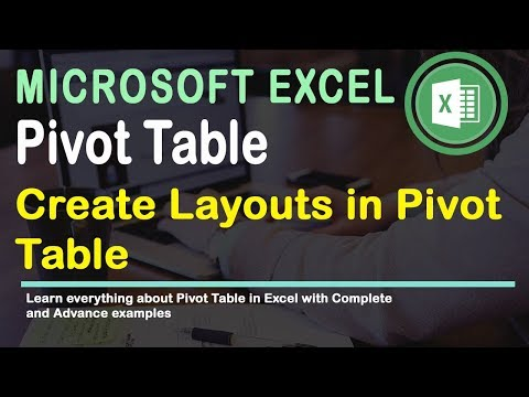 Report Layout in Pivot Table Excel 2016