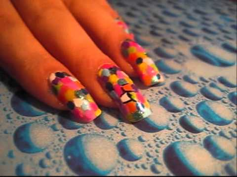 kaleidoscope nails