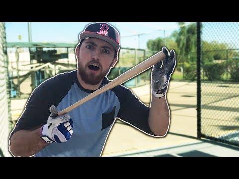 Hitting Baseballs With The Worlds Smallest Baseball Bat! IRL Baseball Challenge
