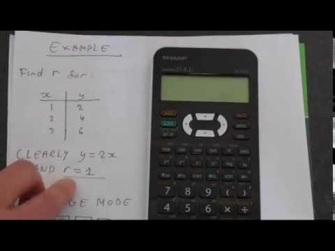 How to Find The Correlation Coefficient (Pearson's r) Using A Sharp EL 531x