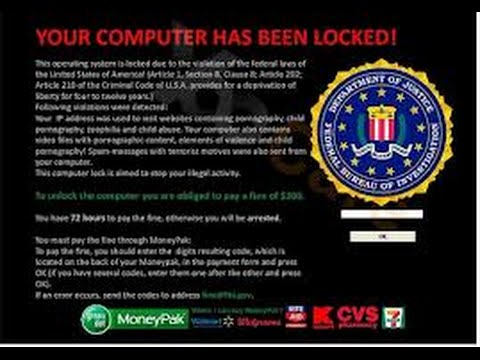 NEW!!! JAN. 4th, 2015 - (FASTEST EASIEST WAY EVER!) - FBI MoneyPak Virus Removal. EXTREME EASY!