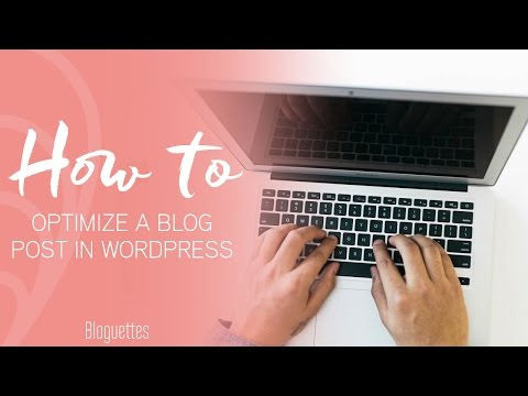 How To Optimize Your Wordpress Blog │ Bloguettes