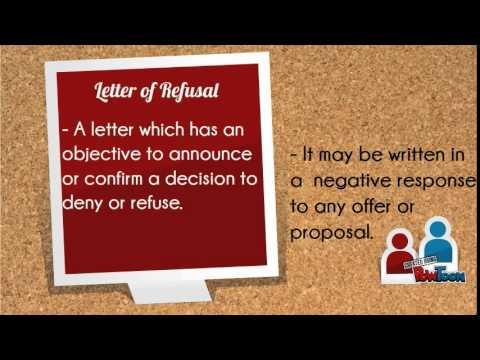 Letter of Refusal