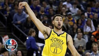 Klay Thompson drops 43 points on Knicks in Warriors