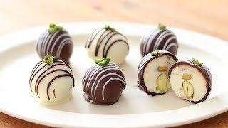 クリームチーズ・チョコトリュフの作り方&ラッピング Cream Cheese Chocolate Truffle HidaMari Cooking