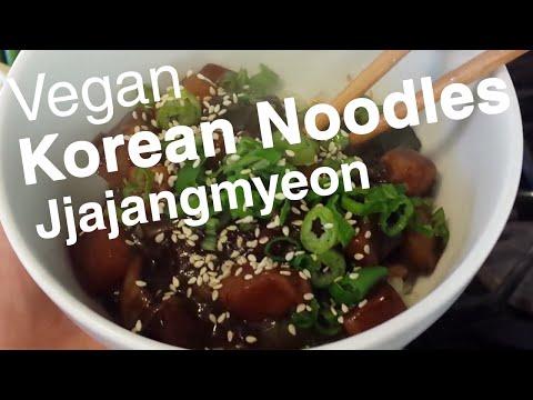 Korean Noodles w VEGAN Black Bean Sauce (Jjajangmyeon: 짜장면) Recipe - Le Tour de Plants