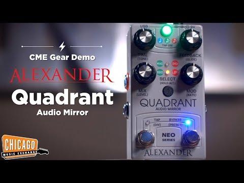 Alexander Pedals Quadrant Audio Mirror Delay Pedal | CME Gear Demo