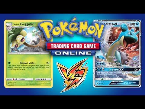 Alolan Exeggutor / Zoroark GX vs Lapras GX - Pokemon TCG Online Gameplay
