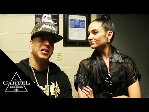 Daddy Yankee vacilando con Natalia Jiménez (Behind the Scenes)