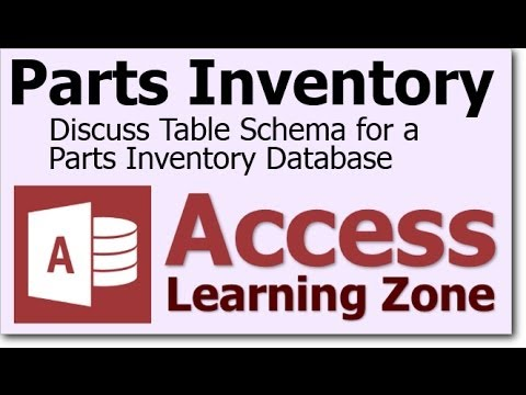 Microsoft Access Parts Inventory Tables