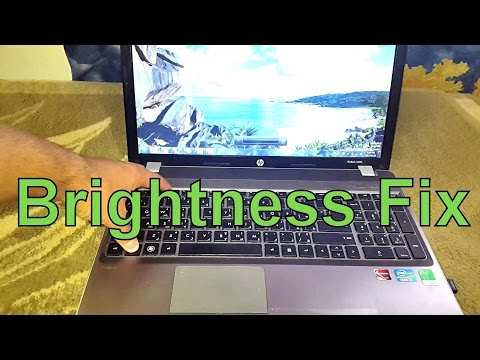 How to Fix Laptop Change Screen Brightness Slider Control  Problem After