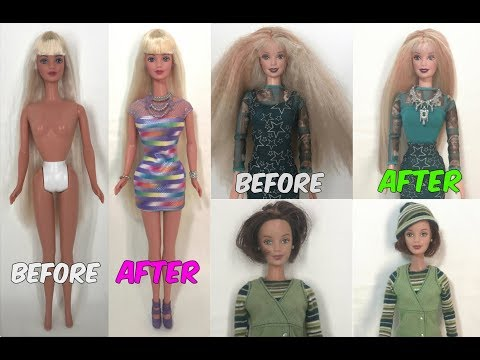 Bulk MAKEOVERS FOR DOLLS - Episode 4 - Barbie dolls special! Fixing thrift-store rescued dolls