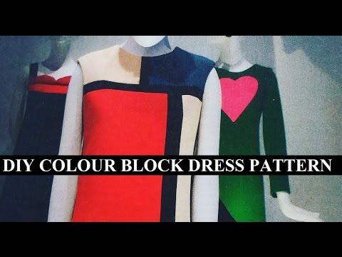 DIY colour block dress pattern