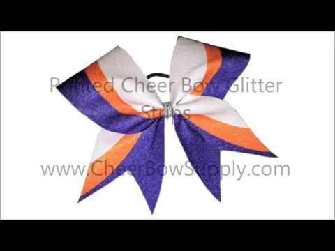 Make Cheer Bows With Printed Glitter Strips