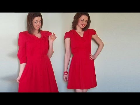 The Upcycled Thrifted Red Dress