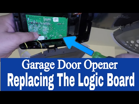 Replacing the Logic Board on a Chamberlain Whisper Drive 1/2 Hp Belt Drive Garage Door Opener