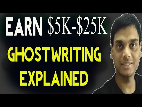 Earn 5k to 25 k as a Ghostwriter Explained   Career as Invisible writer   Hindi