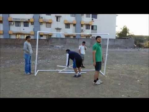 Portable PVC Soccer Goal Setup