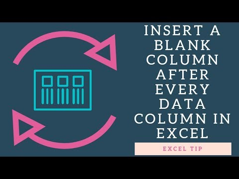 EXCEL TIP INSERT BLANK COLUMNS AFTER EVERY DATA COLUMN IN EXCEL
