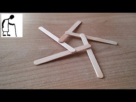 Popsicle Stick Boomerang 5 Blades - holiday project
