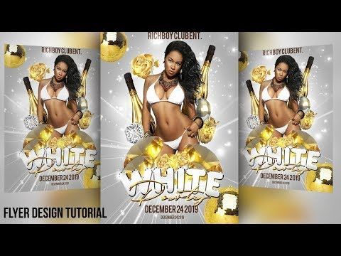 How to Design Nightclub Party Flyers in PSD Photoshop CC Club Rave Event Flyer Graphic Tutorials