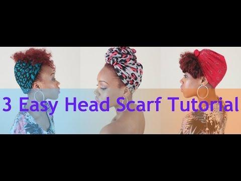 89. 3 Easy Head Scarf Tutorial