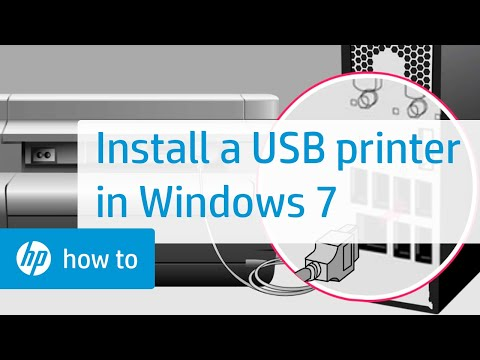 Installing an HP Printer with an Alternate Driver in Windows 7 for a USB Cable Connection