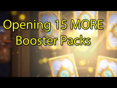 Hearthstone: Opening 15 MORE Booster Packs with Wowcrendor