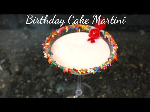 Birthday Cake Martini Recipe: Easy Cocktail Drink Recipes