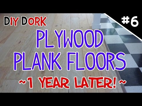 DIY Low Budget Plywood Plank Floors - Part 6 (1 Year Update!)