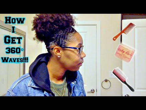 How I Get 360° Waves!! | Natural Hair | Curly High Puff