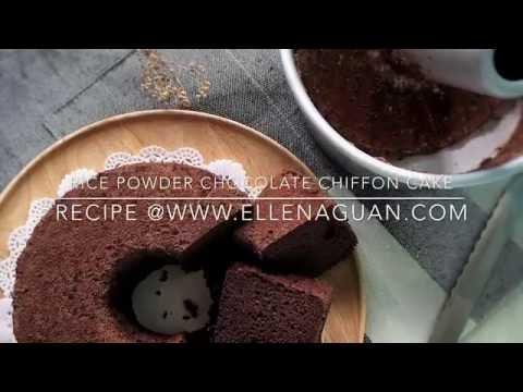 Rice Flour Chocolate Chiffon Cake