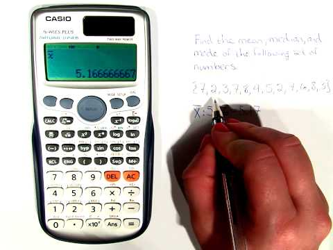 How to find mean, median, and mode on your calculator, LSM 1003